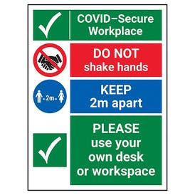 COVID-Secure Workplace - Use Own Desk