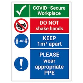 COVID-Secure Workplace - 1M - Appropriate PPE