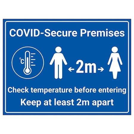 COVID-Secure Premises - Check Temp Before Entering