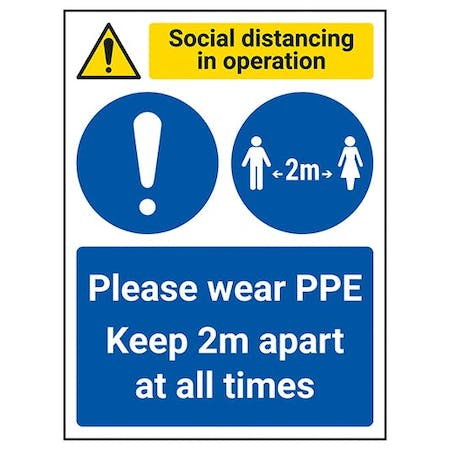 Social Distancing In Operation - PPE - Keep 2m Apart