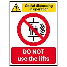 Social Distancing In Operation - DO NOT Use The Lifts