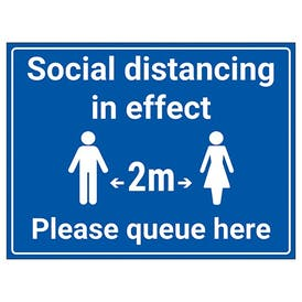 Social Distancing In Effect - 2m - Please Queue Here