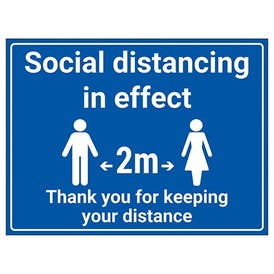 Social Distancing In Effect - 2m - Thank You