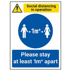 Social Distancing In Operation - Stay 1m Apart