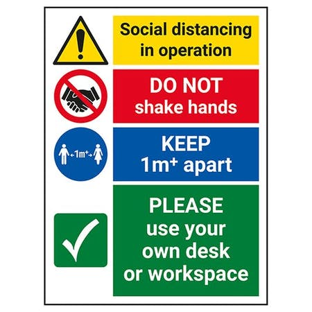 Social Distancing In Operation - 1M - Use Own Desk Or Workspace