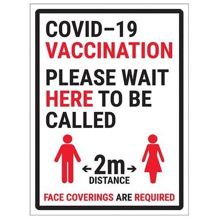 COVID-19 Vaccination - Please Wait Here