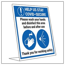 COVID-Secure Desk Sign - Please Wash Hands