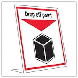 Covid Retail Desk Sign - Drop Off Point