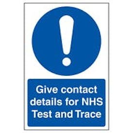 Give Contact Details For NHS Test and Trace