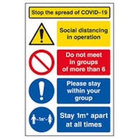 Stop The Spread / Do Not Meet More Than 6