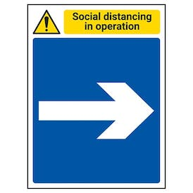 Social Distancing In Operation - Arrow Right