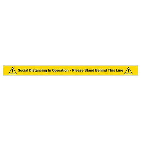 5 Pack - Stand Behind Line Temporary Floor Markers