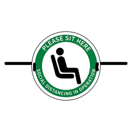 4pk Seat Marker - Please Sit Here