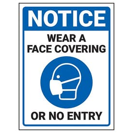 Notice - Face Covering - No Entry