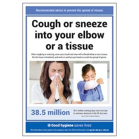 Cough Or Sneeze Into Your Elbow Poster