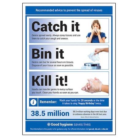 Catch It / Bin It / Kill It! Poster