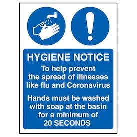 Hygiene Notice/Prevent Flu And Coronavirus