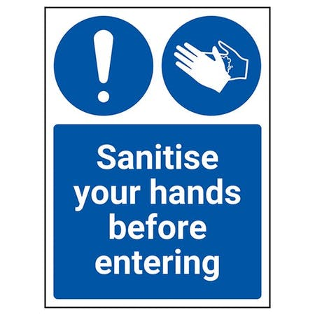 Sanitise Your Hands Before Entering