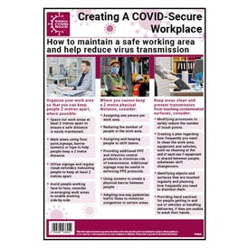 Maintain A Safe Working Area & Reduce Virus Transmission Poster