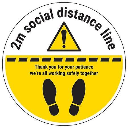 2m Social Distance Line Temporary Floor Sticker