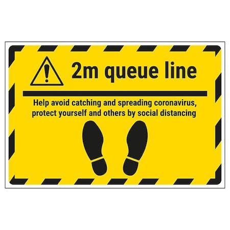 2m Queue Line - Avoid Spreading Coronavirus Temporary Floor Sticker