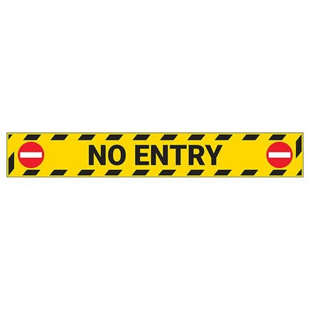 No Entry Temporary Floor Sticker
