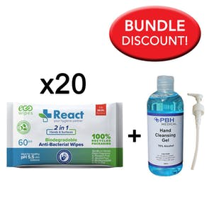 React Biodegradable Wipes and Sanitiser Bundle