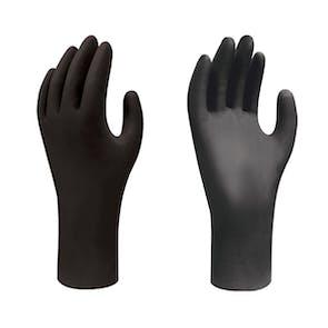 Showa 6112PF Black Biodegradable Nitrile Gloves
