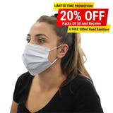 Type IIR Fluid Resistant Medical Face Masks