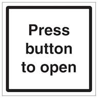 Press Button To Open