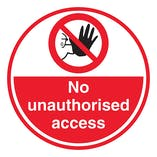 No Unauthorised Access - Temporary Floor Sticker