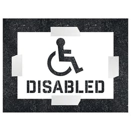 Disabed With Icon Stencil