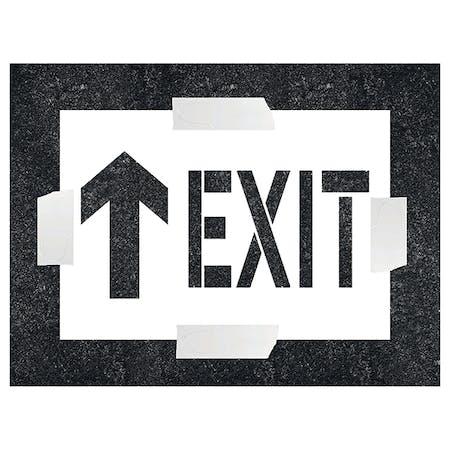 Exit With Arrow Ahead Stencil