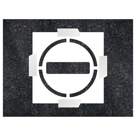 No Entry Icon Stencil