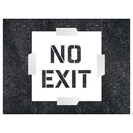 No Exit Stencil
