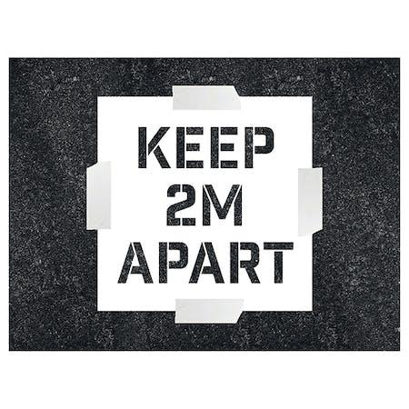 Keep 2m Apart Stencil