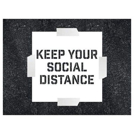 Keep Your Social Distance Stencil