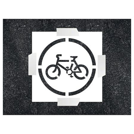 Cycling Icon Stencil