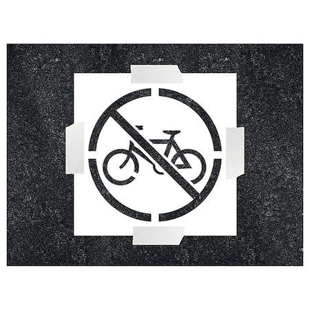 No Cycling Icon Stencil
