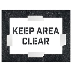 Keep Area Clear Stencil