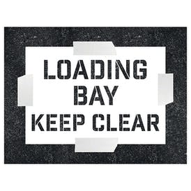 Loading Bay - Keep Clear Stencil