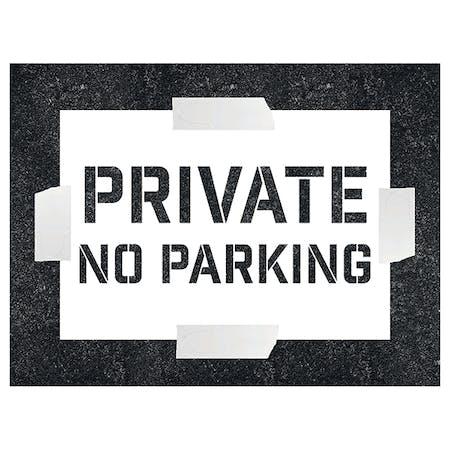 Private - No Parking Stencil