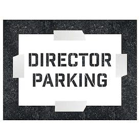 Director Parking Stencil