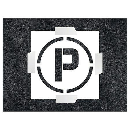Parking Icon Stencil