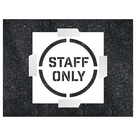 Staff Only Stencil