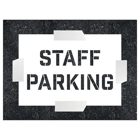 Staff Parking Stencil