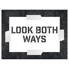 Look Both Ways Stencils