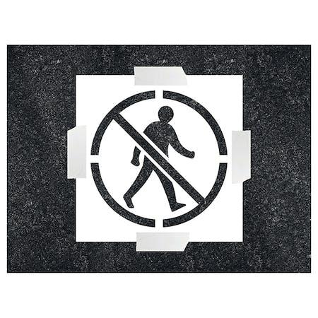 No Pedestrian Icon Stencil