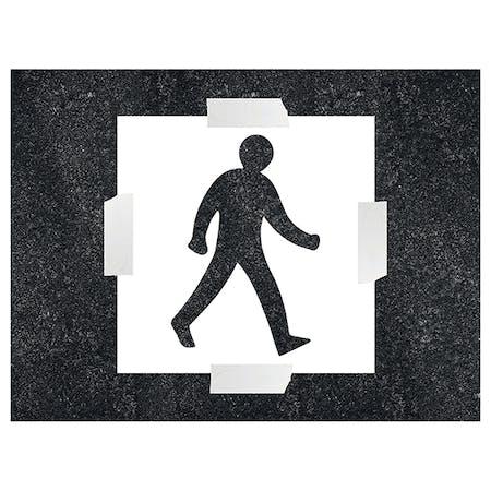 Pedestrian Icon Stencil