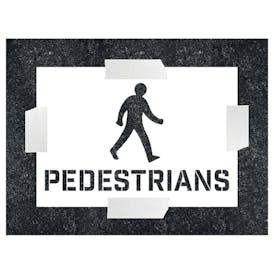 Pedestrians With Icon Stencil